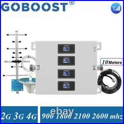 2/3/4G Cell Phone Signal Booster 900 1800 2100 2600MHz GSM Band 1/3/7 Repeater