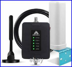 3G 4G Cell Phone 700/850/1700/1900MHz Signal Booster Data Voice for Car RV truck