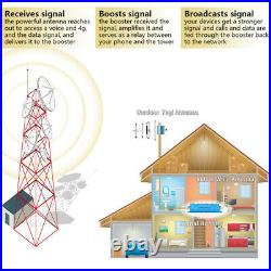 3G 4G LTE 1700MHz Cell Phone Signal Booster Band 4/66 Mobile Repeater for Home