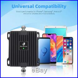 3G LTE Cell Phone Signal Booster 850/1900MHz Improve Call Band 5/2 Repeater Kit