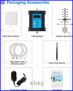4G 3G 5G Cell Phone Signal Booster 7-Bands Mobile Cellular Repeater Data Voice