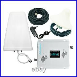 4G Cell Phone Signal Booster 850/1700/1900MHz 3 Band Repeater Amplifier 2/3/4G
