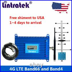 4G LTE 1700/2100MHz Cell Phone Signal Booster Band 66/4 Repeater Kit Data Voice