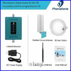 5 Bands Cell Phone Signal Booster Multiple Band Repeater Support Multi Devices