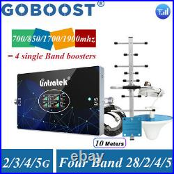 700 850 1700 1900MHz Cell Phone Signal Booster Repeater Band 28/5/2/4 Amplifier