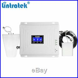 900/1800/2100MHz 2G 3G 4G Cell Phone Signal Booster 65dB LTE Mobile Repeater Kit