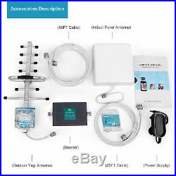 AT&T 700MHz 850/1900MHz Cell Phone Signal Booster N-male Amplifier Yagi Antenna