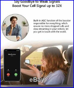 AT&T Verizon Cell Phone Signal Booster 700/850/1700/1900MHz 2G 3G 4G for Car/RV