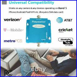 AT&T Verizon Cell Phone Signal Booster 850MHz Band 5 2G 3G 4G LTE Repeater Home