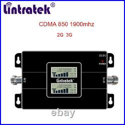 CDMA 850 1900 MHz Cell Phone Signal Booster LCD Display 2G 3G Amplifier Cellular