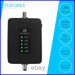 Car/RV Booster 2G/3G/4G Cell Phone Signal Booster 700/850/1700/1900/MHz Repeater