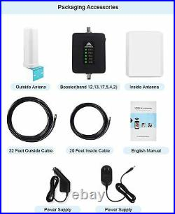 Cell Phone 3G 4G 700/850/1700/1900MHz Band 12/13/17/2/5/2 Signal Booster RVtruck