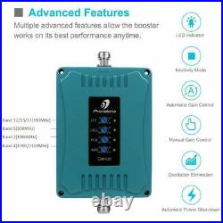 Cell Phone 3G 4G LTE Signal Booster 700/850/1700/1900MHz Repeater Kit Data Voice