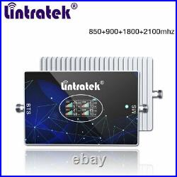 Cell Phone Signal Booster 900/1800/2100/2600MHz 4 Band Repeater Voice Data