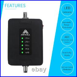 Cell Phone Signal Booster for RV, Motorhome, Car, Truck, Boats, Small Cabin Use