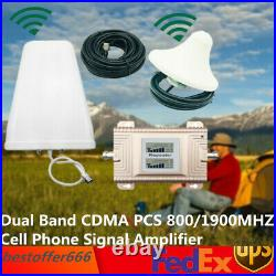 Dual Band CDMA PCS 850/1900MHZ Cell Phone Signal Amplifier Repeater Booster