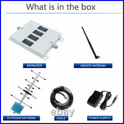 Four Band Signal Booster 900 1800 2100 2600MHz 2/3/4G Amplifier Kit cell phone
