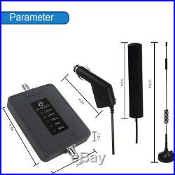 GSM 3G 4G AT&T Verizon 700/850/1700/1900MHz Cell Phone Signal Booster Car RV Use