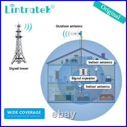 Lintratek Cell Phone Signal Booster 850/900/1800/2100MHz Amplifier Repeater Home