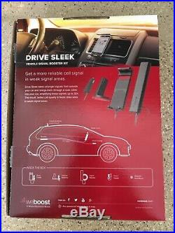 WeBoost Drive Sleek Vehicle Cell Phone Signal Booster With Cradle Mount Holder